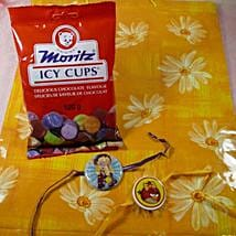 Kids Rakhi Set of Two with Moritz Icy Cups: 2 Rakhi Sets to Canada