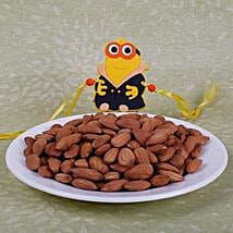 Kids Rakhi With Almonds: Rakhi and Dryfruits to Canada