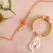 Orange Bhaiya Bhabhi Rakhi: Send Rakhi to Calgary