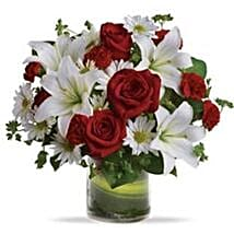 red and white: Lilies