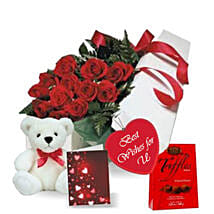Rose Gift Box Combo: Send Flowers to Canada
