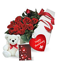 Rose Gift Box N Teddy: Rose Day Gift Delivery in Canada