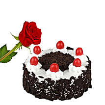 Rose N Black Forest Cake: Flowers with Cakes to Canada