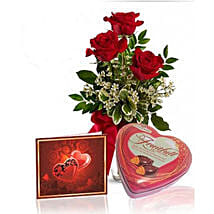 Roses N Chocolate Combo: Flower Delivery in Canada