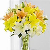 Simple Asiatic Lilies: Valentine's Day Flower Delivery in Canada