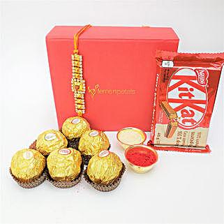 Supreme Chocolaty Rakhi Combo For Brother: