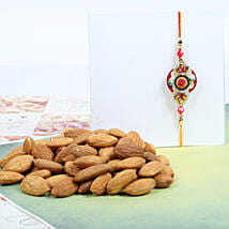 Traditional Rakhi With Almond: Rakhi to Canada