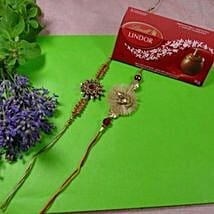 Traditional Rakhis Set of Two with Lindt Lindor: 2 Rakhi Sets to Canada