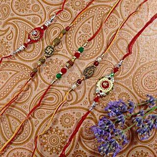 Trendy Rakhi Set Of Five: Rakhi to Canada