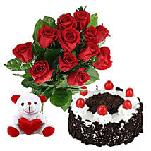 Valentine Black Forest Combo: Rose Day Gifts to Canada