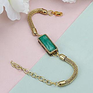Premium Green Stone Rakhi CHL: