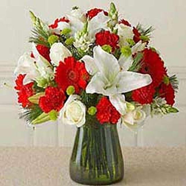 Red n white Vass arrangement CIN