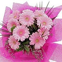 10 pink gerberas CIN: Love & Romantic Gifts To China