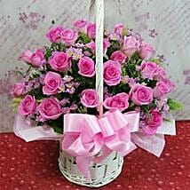 24 roses flower basket A CIN: Love & Romantic Gifts To China