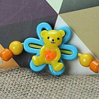 Cute Little Teddy Rakhi FIN: Send Rakhi to Finland