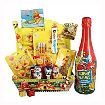 Pooh School Sweet Creative Set XL with Kids Champagne: Send Gifts to France
