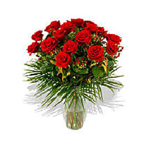 Two Dozen Roses N Free VASE: Send Gifts to France