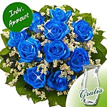 10 blue roses: Rose Delivery in Germany