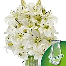 10 white lilies in a bunch: Send Gifts to Frankfurt