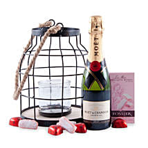 Candlelight Romance with Moet Champagne: Gift Hampers to Germany