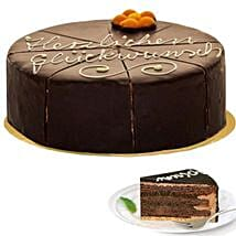 Dessert Sacher Cake: Gifts to Frankfurt