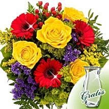 Flower Bouquet Blutenfee with vase: Just Because Flowers Delivery in Germany