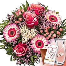 Flower Bouquet Herzklopfen With Vase and Merci: Love N Romance