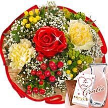 Flower Bouquet Tango With Vase and Merci: Love and Romance Gifts to Germany