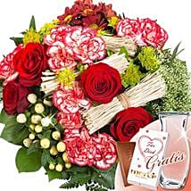 Flower Bouquet Velvet With Vase and Merci: Send Roses to Germany