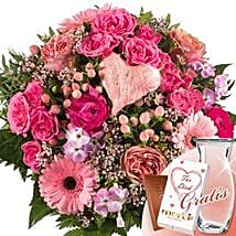 Flower Bouquet Wilde Liebe With Vase and Merci: Love and Romance Gifts to Germany