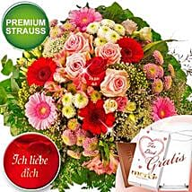 Ich Liebe Dich With Premium Vase and Merci: Love N Romance