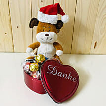 Lindt Chocolate And Teddy Bear Combo: Birthday Chocolates to Germany