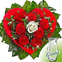 Rose Bouquet Amore with vase: Love and Romance Gifts to Germany