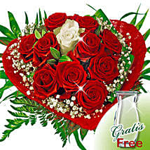 Rose Bouquet Romeo with vase: Love N Romance