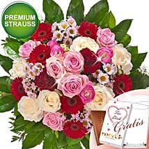 Rosen Deluxe With Premium Vase and Merci: Rose Delivery in Germany