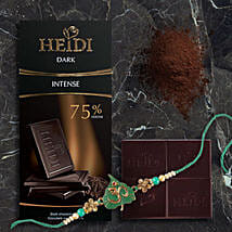 Heidi Intense Dark Chocolate Rakhi Combo: Rakhi Delivery in Hong Kong