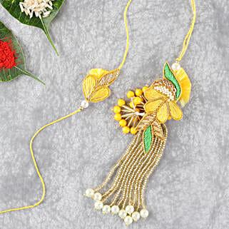 Bright And Beautiful Lumba Rakhi Set: Send Rakhi to Indonesia