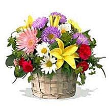 Mixed flower basket INDO: Birthday Flower Delivery in Indonesia