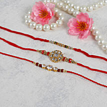 American Diamond Rakhi Set: Rakhi Delivery in Ireland