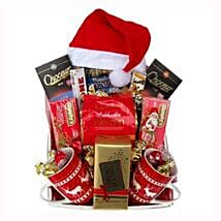 Santa Christmas Tea Basket: Send Gifts to Ireland