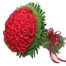 100 rose bouquet JAP: Send Gifts to Japan