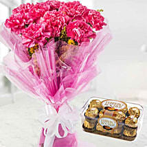 Charismatic Carnations And Chocolates Combo: Birthday Gift Delivery in Kuwait
