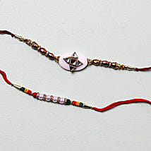 Cheerful Designer Rakhis For Brother: Set Of 2 Rakhi To Kuwait