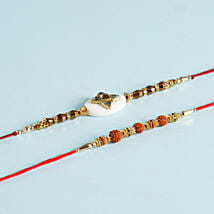 Exquisite Set Of 2 Designer Rakhis: Set Of 2 Rakhi Delivery in Kuwait