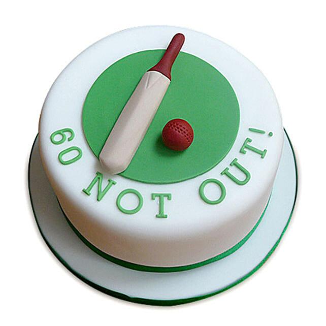 60 Not Out Designer Cake 3kg Butterscotch