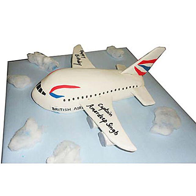 Airplane Cake 3kg Pineapple