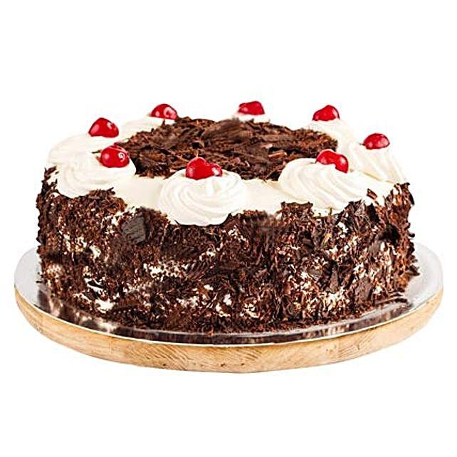 Ambrosial Black Forest Cake half kg Eggless