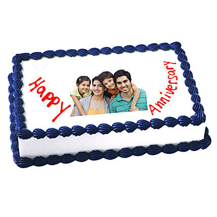 Anniversary Photo Cake 3kg Vanilla Eggless
