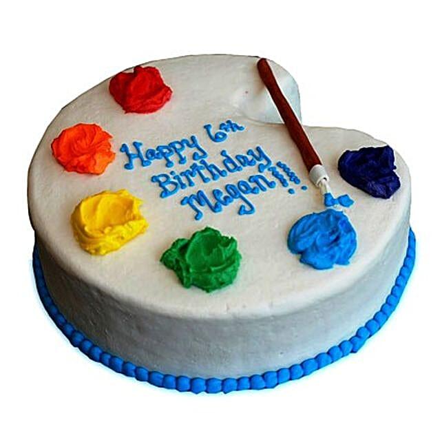 Artist Birthday Cake 2kg Eggless Vanilla