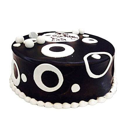 Black and White Cake 2kg Eggless